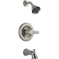 Lahara 1-Spray Tub  Shower Faucet in Stainless Steel