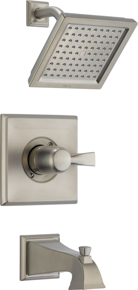 Dryden Bath/Shower Faucet with Showerhead in Stainless Steel