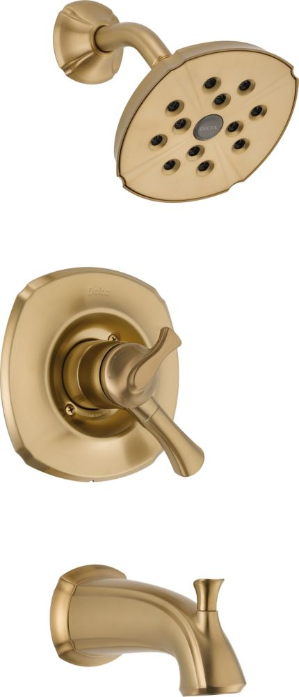 Addison Single-Handle Single-Function Bath/Shower Faucet with H2Okinetic in Champagne Bronze