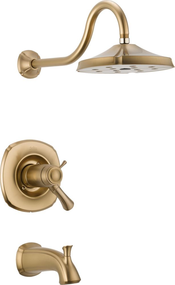 Addison Single-Handle Thermostatic Bath/Shower Faucet with H2Okinetic in Champagne Bronze