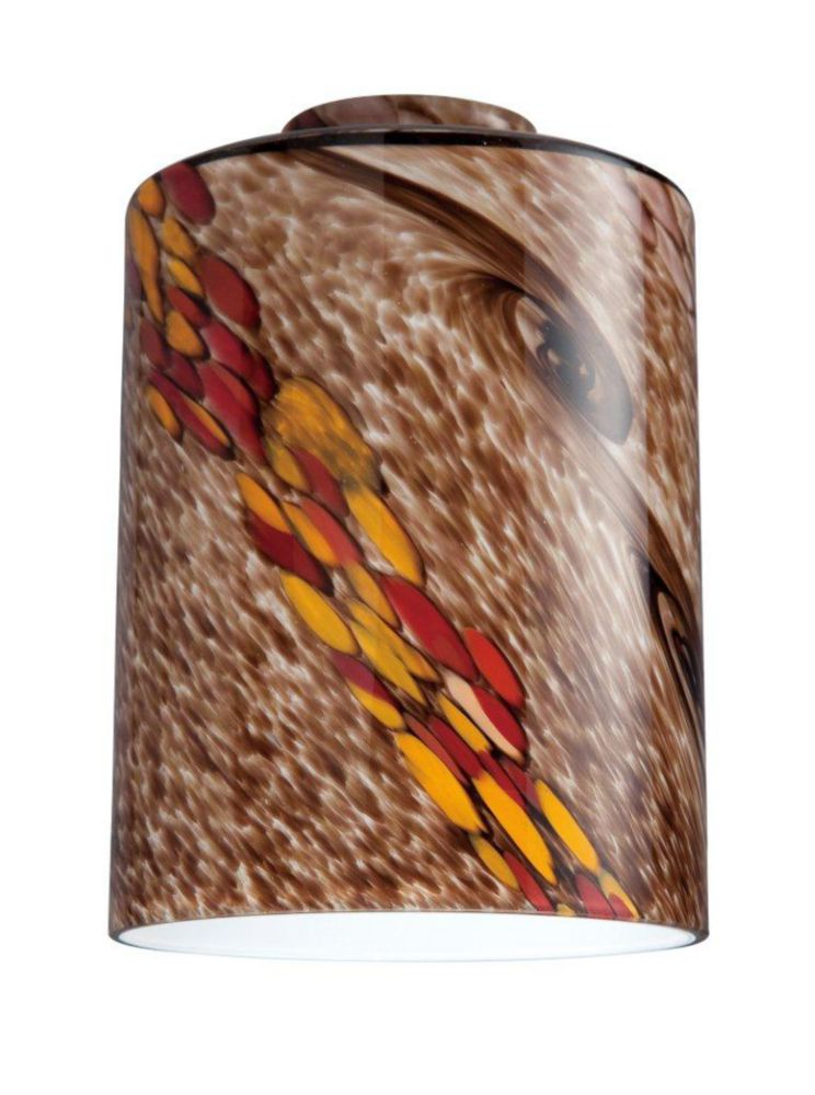 Wildfire Glass Cylinder Shade