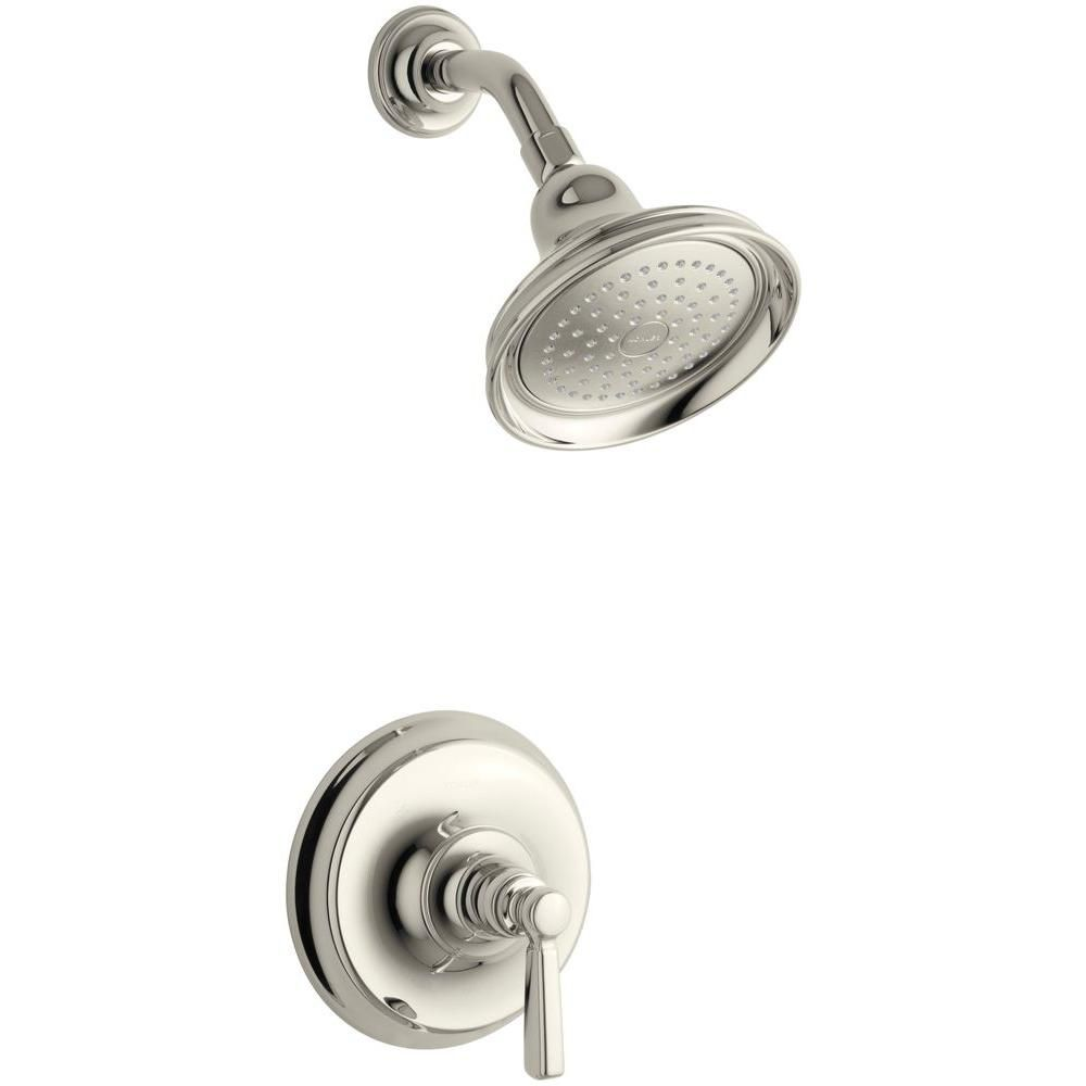 Bancroft Shower Faucet with Showerhead and Metal Lever Handle