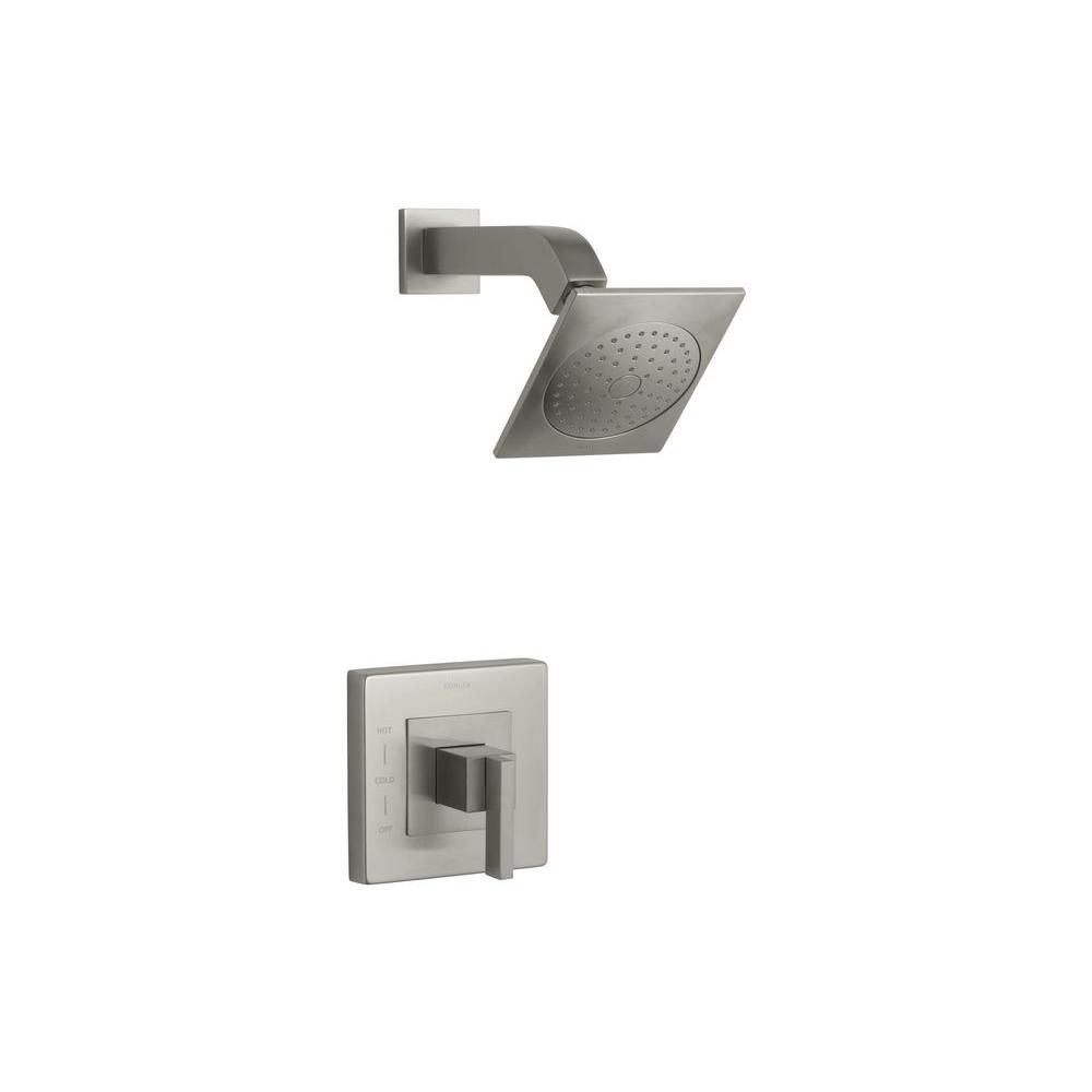 Loure Rite-Temp Shower Faucet with Lever Handle and Showerhead