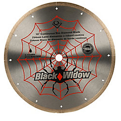 Black Widow 10-inch Porcelain, Ceramic, Marble and Granite Wet Cutting Diamond Blade