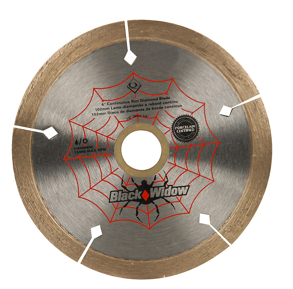 4-inch Porcelain, Ceramic, Marble and Granite Wet/Dry Cutting Diamond Blade