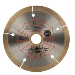 Black Widow 4-inch Porcelain, Ceramic, Marble and Granite Wet/Dry Cutting Diamond Blade