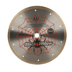 Black Widow 8-inch Porcelain, Ceramic, Marble and Granite Wet Cutting Diamond Blade