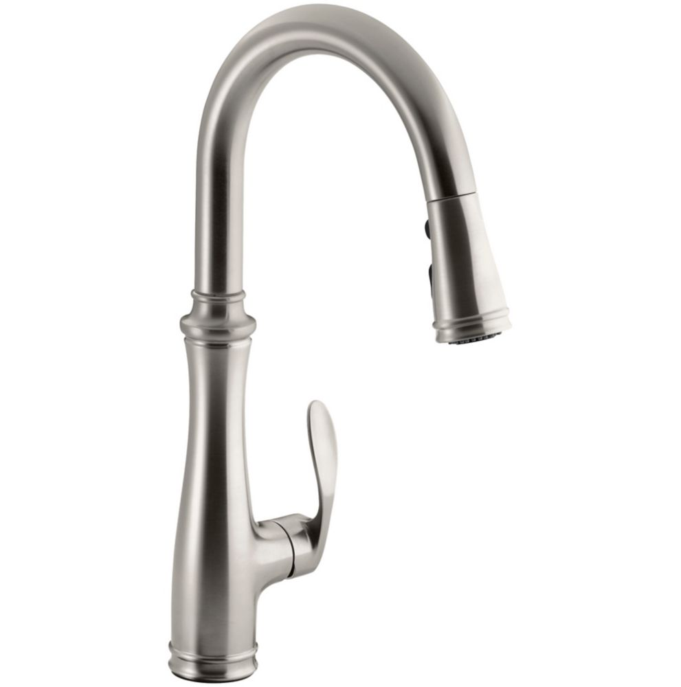 kohler bellera pulldown kitchen faucet the home depot canada