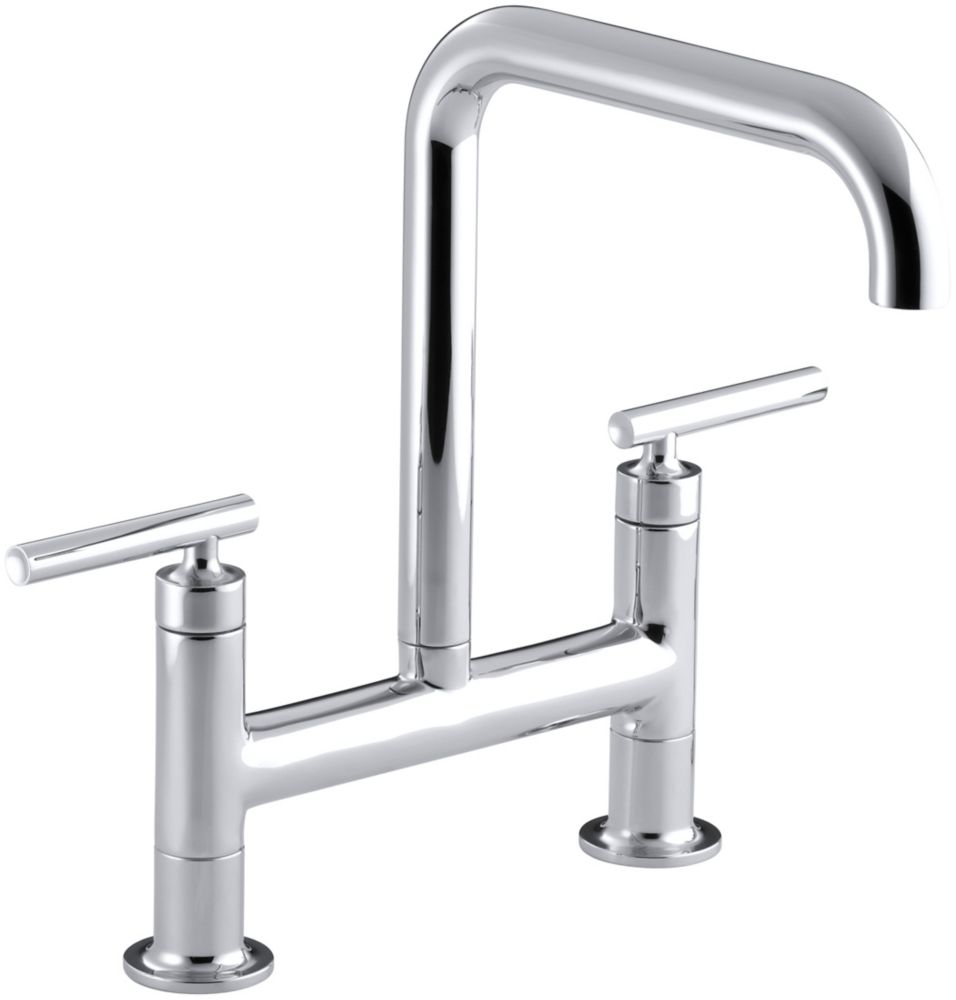 Purist Deck-Mount Bridge Faucet