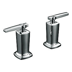 KOHLER Margaux(R) valve trim with lever handles for deck-mount high-flow bath valve, requires valve