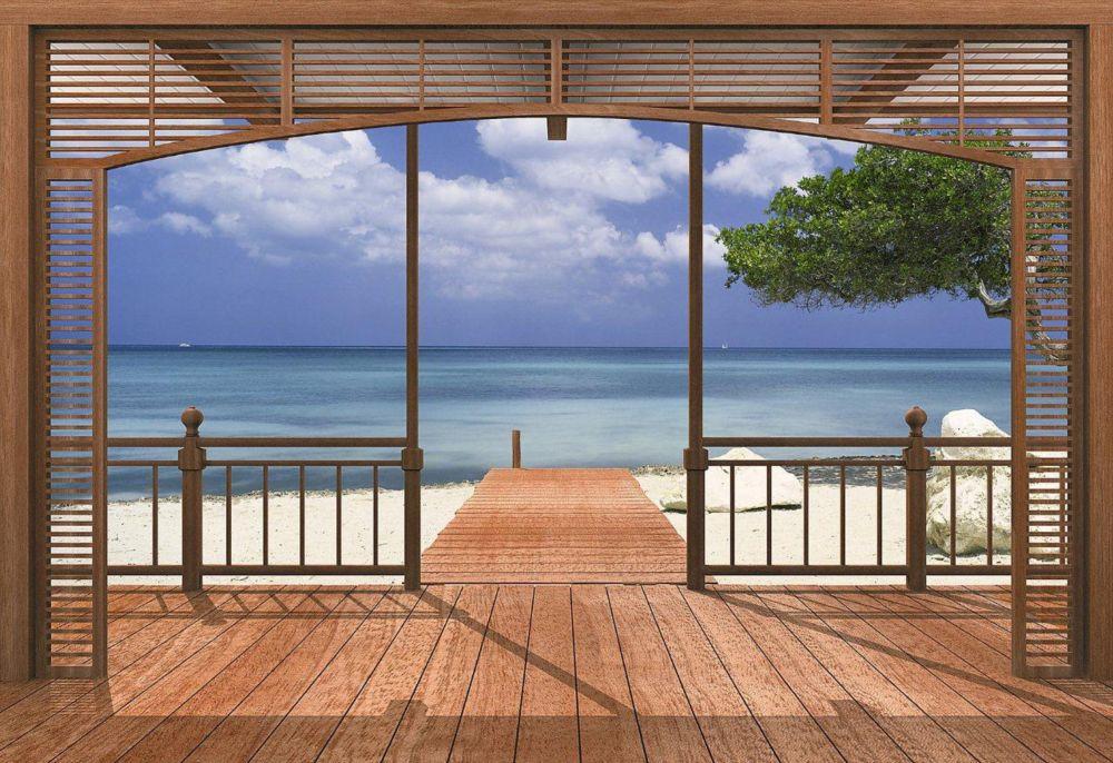 El Paradiso Beachfront Deck Mural