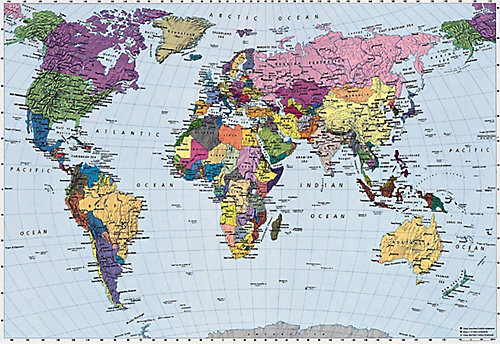 Komar world map mural the home depot canada world map mural gumiabroncs Choice Image