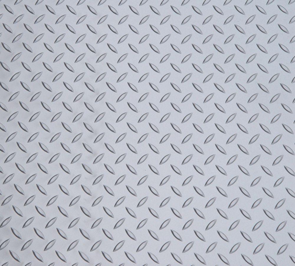 5 Feet x 7.5 Feet Metallic Silver Motorcycle Mat