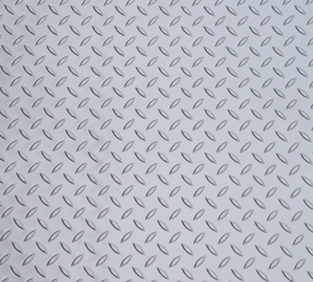 Diamond Deck 5 ft. x 25 ft. Vinyl Sheet in Metallic Silver
