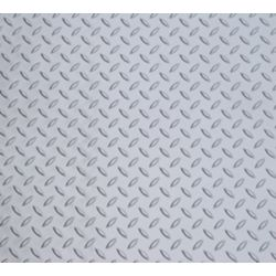 Diamond Deck 5 ft. x 25 ft. Vinyl Sheet in Metallic Silver