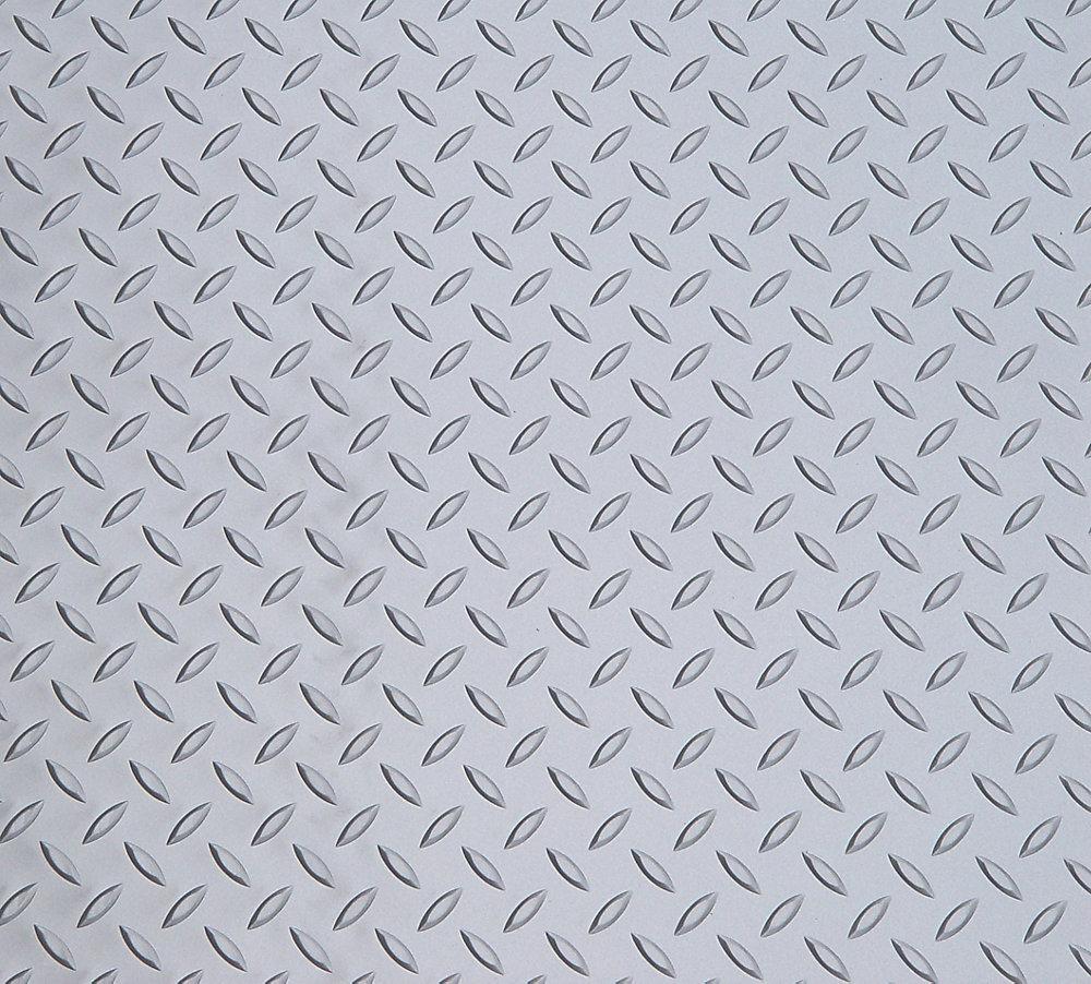 Diamond Deck 7.5 ft. x 17 ft. Standard Car Mat in Metallic Silver