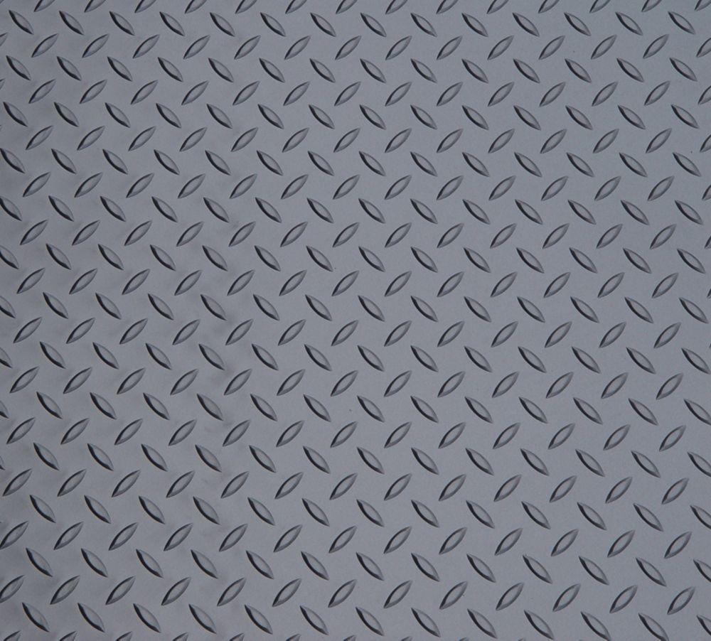 Diamond Deck 5 ft. x 3 ft. Door Mat in Metallic Graphite