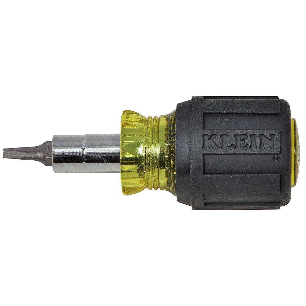 Klein Tools Tournevis à embouts multiples, y compris à pointe carrée, tige de 32mm