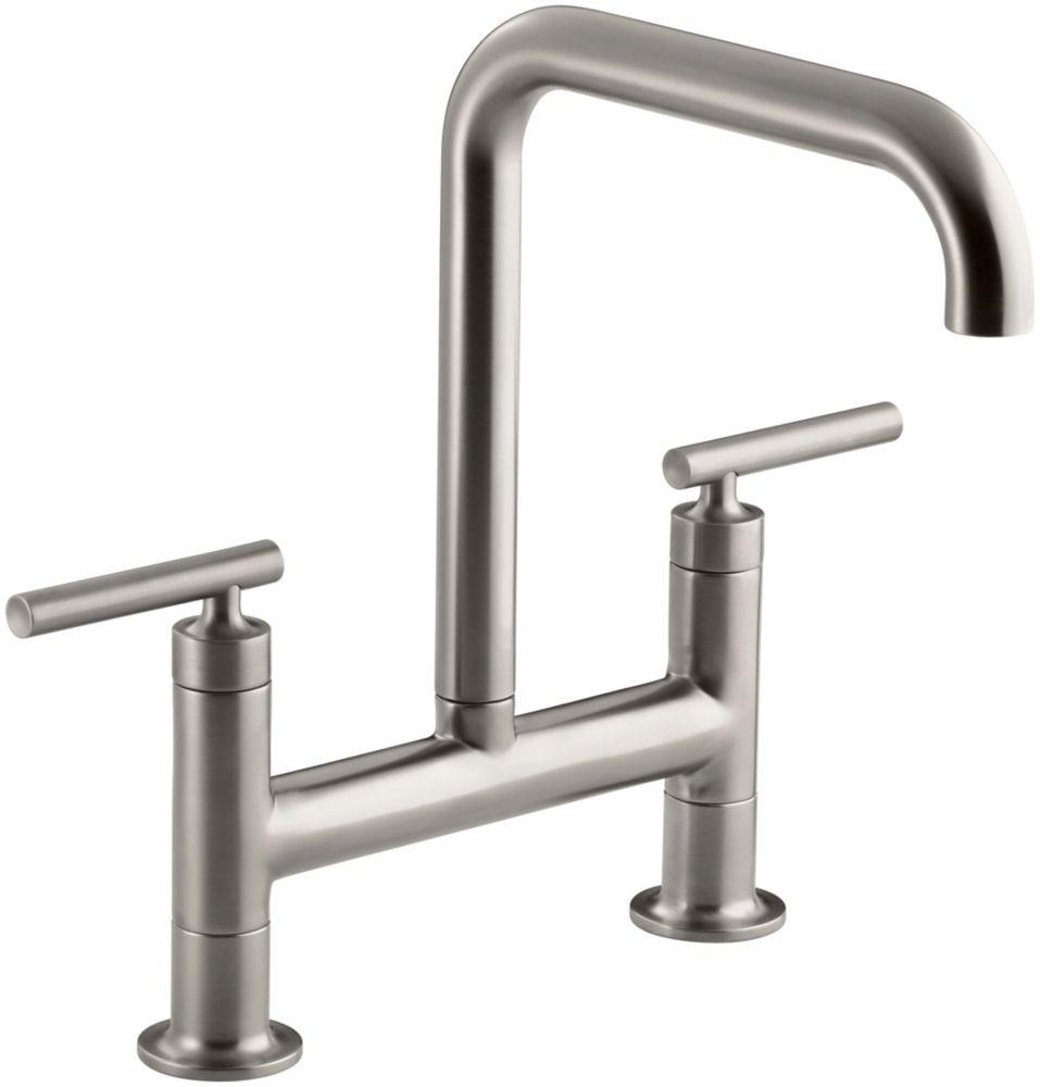Purist Deck-Mount Bridge Faucet