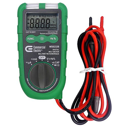 Commercial Electric Auto-Ranging Digital Multimeter