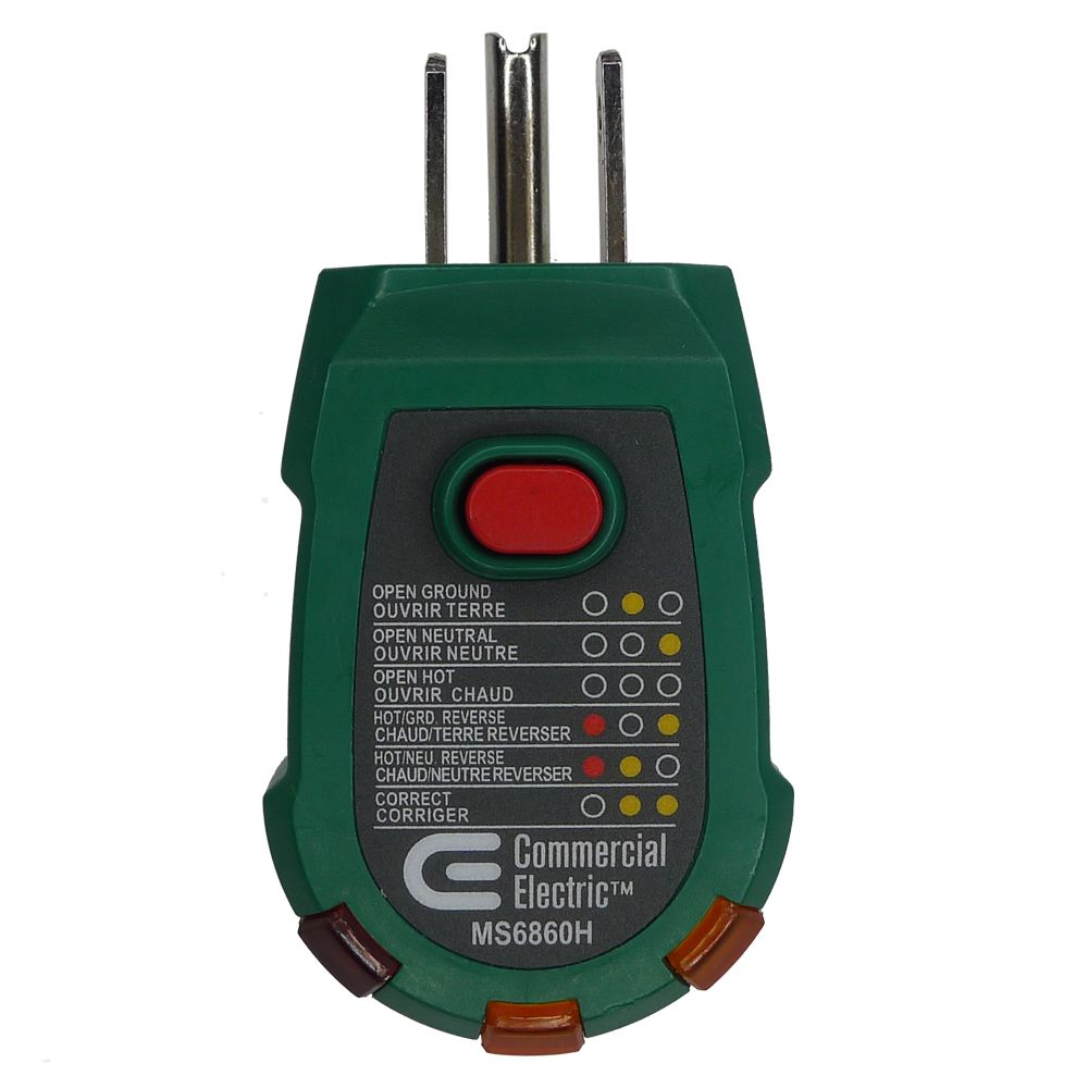 Electrical Plug Tester : Electrical tools canada discount canadahardwaredepot