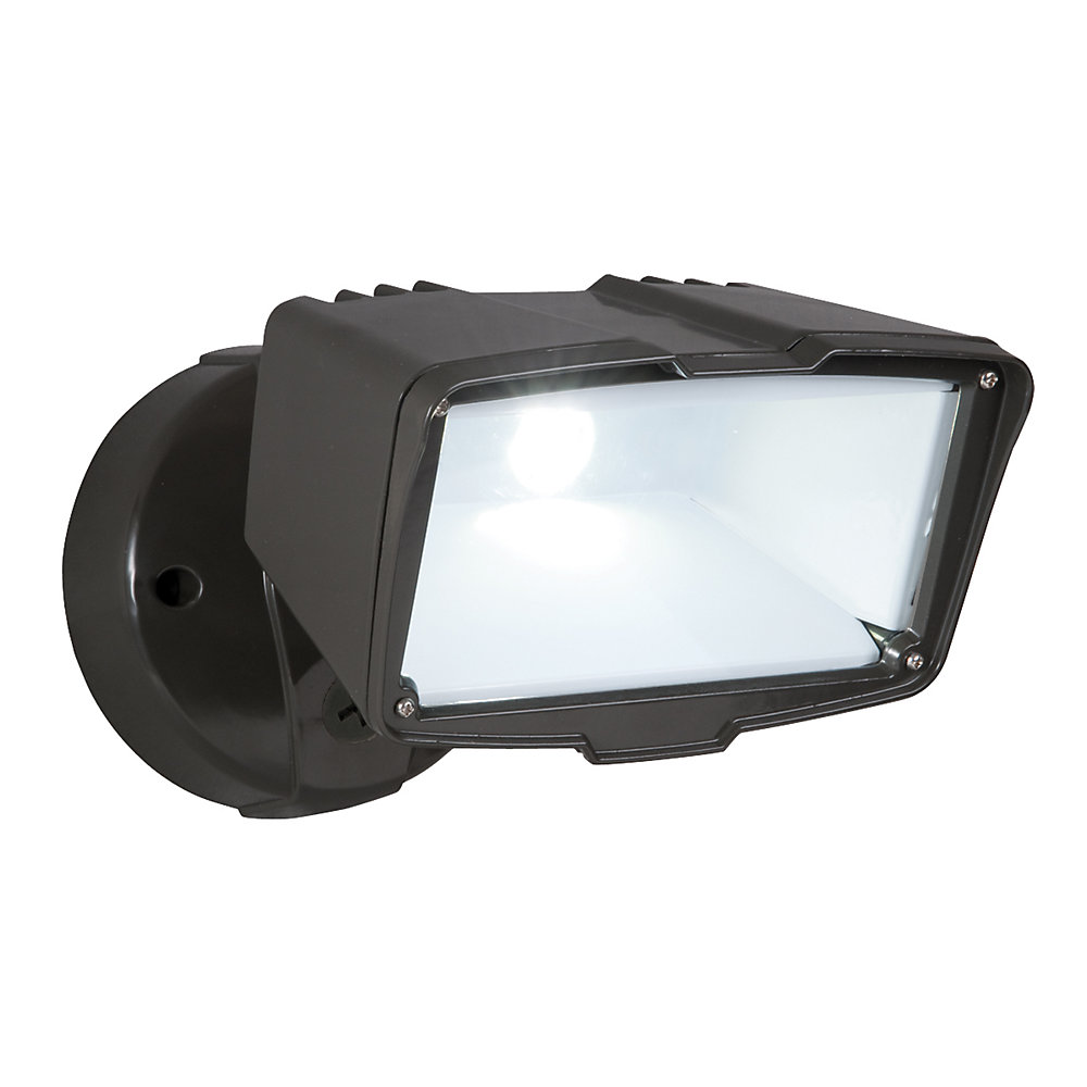 Outdoor Large LED Floodlight in Bronze