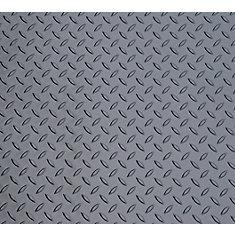 Diamond Deck 5 ft. x 40 ft. Vinyl Sheet in Metallic Graphite