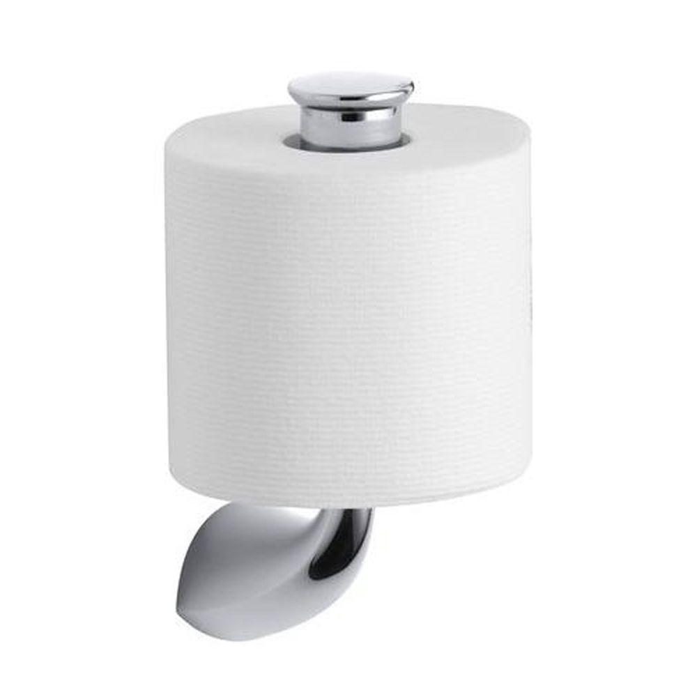 KOHLER Alteo Vertical Single Post Toilet Paper Holder in Polished Chrome