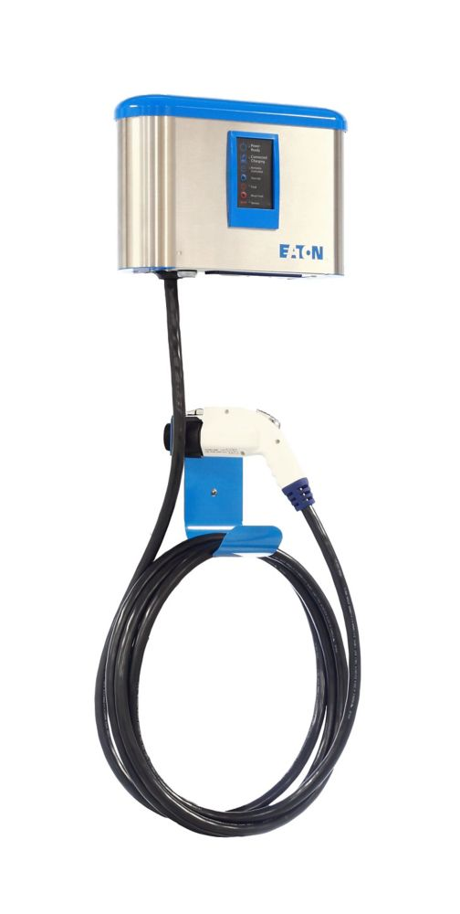 Indoor/Outdoor Electric Vehicle 30Amp Charging Station with Advanced Cord Management
