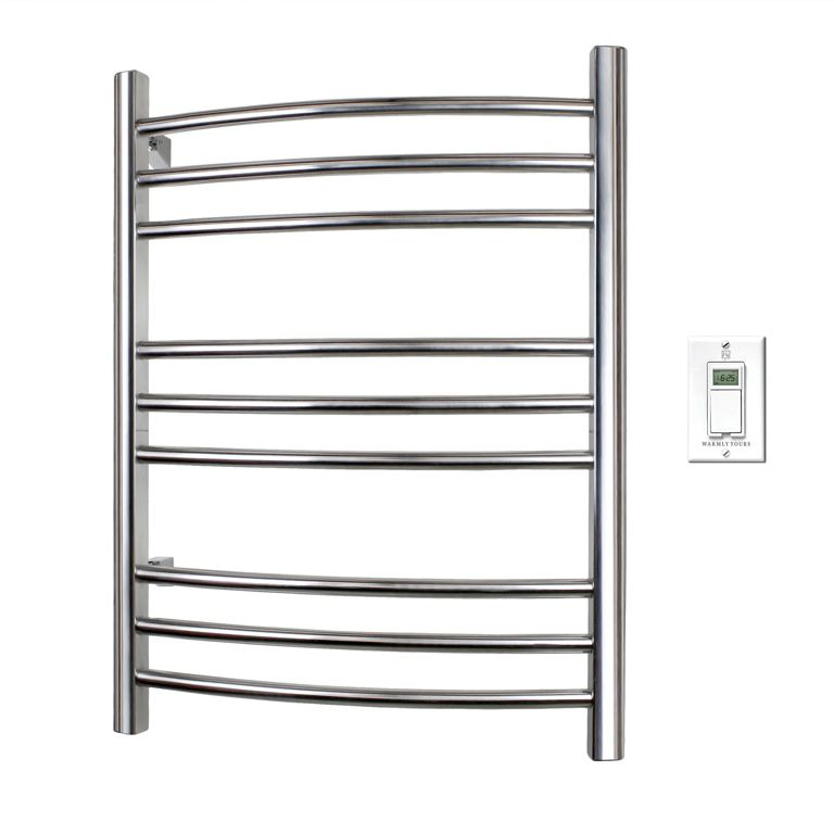 warmlyyours riviera towel warmer polished stainless the. Black Bedroom Furniture Sets. Home Design Ideas