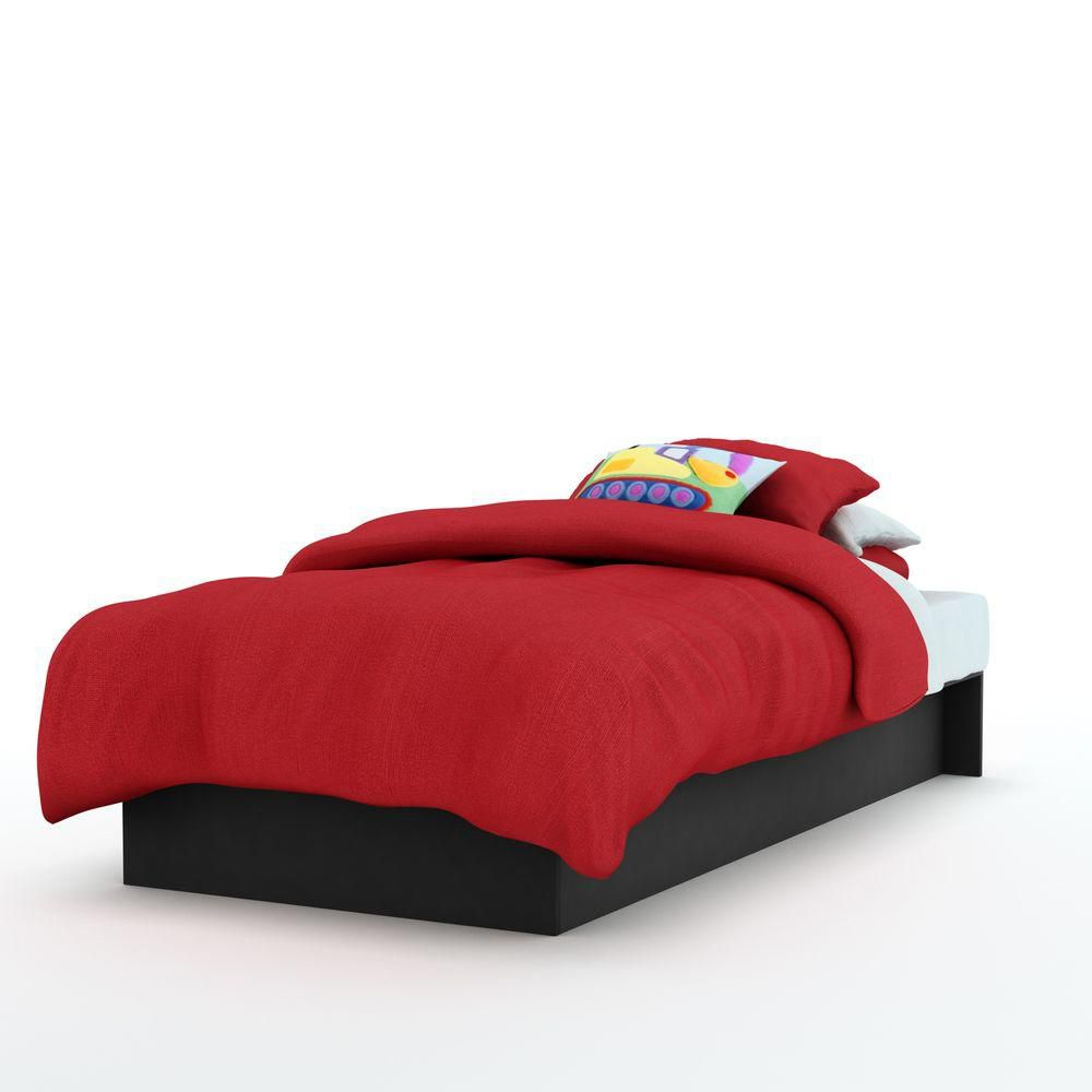 Freeport Twin Platform Bed Pure Black