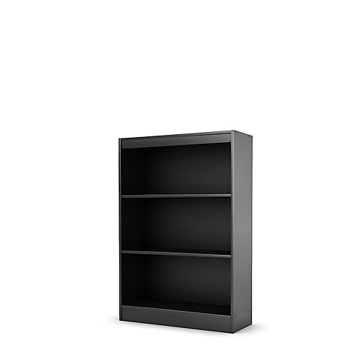 Axess 3-Shelf Bookcase, Pure Black