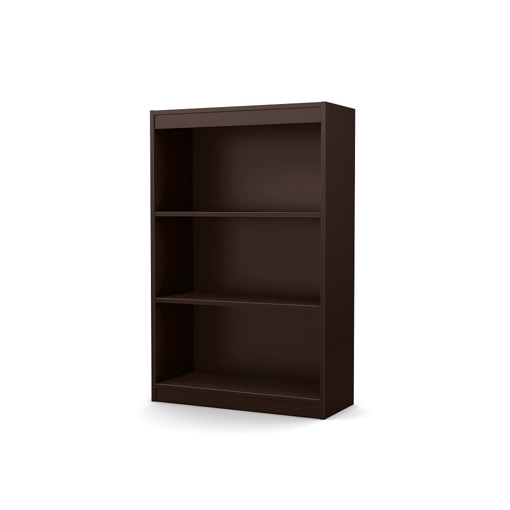 Axess 3-Shelf Bookcase, Chocolate