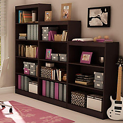 Axess 4-Shelf Bookcase, Chocolate