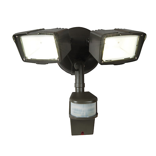 All pro 180 degree small twin doppler motion activated outdoor 180 degree small twin doppler motion activated outdoor bronze led security floodlight aloadofball Image collections