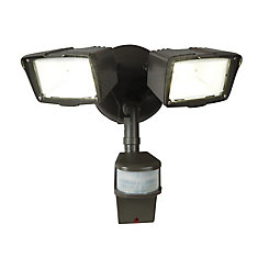 180 Degree Small Twin Doppler Motion Activated Outdoor Bronze LED Security Floodlight