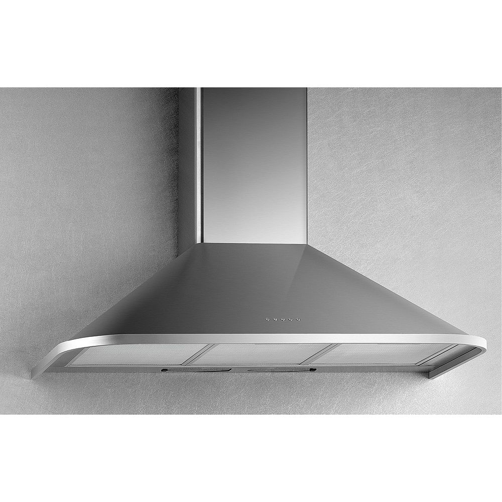 Arda 30-inch, 500 CFM Canopy Wall-Mount Range Hood in Stainless Steel with Incandescent Lighting