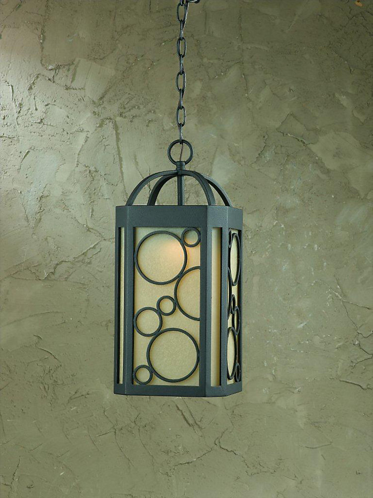 1 Light Pendant Bronze Finish Scavo Glass