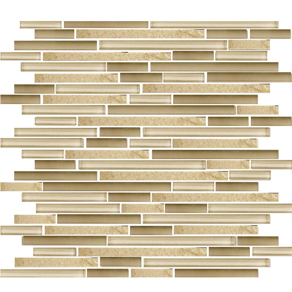 Mosaic 13.4-inch x 11.8-inch Tile in Beige