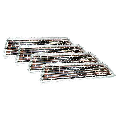 Emballage économique de luminaires pour grande hauteur à 4 tubes fluorescents T8 avec réflecteur en aluminium et grille de protection
