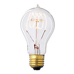 Home Decorators Collection Nostalgic 40W E26 Vintage-Style Light Bulb with Clear Glass Filament