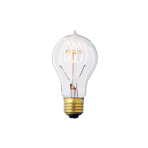 Nostalgic 40W E26 Vintage-Style Light Bulb with Clear Glass Filament