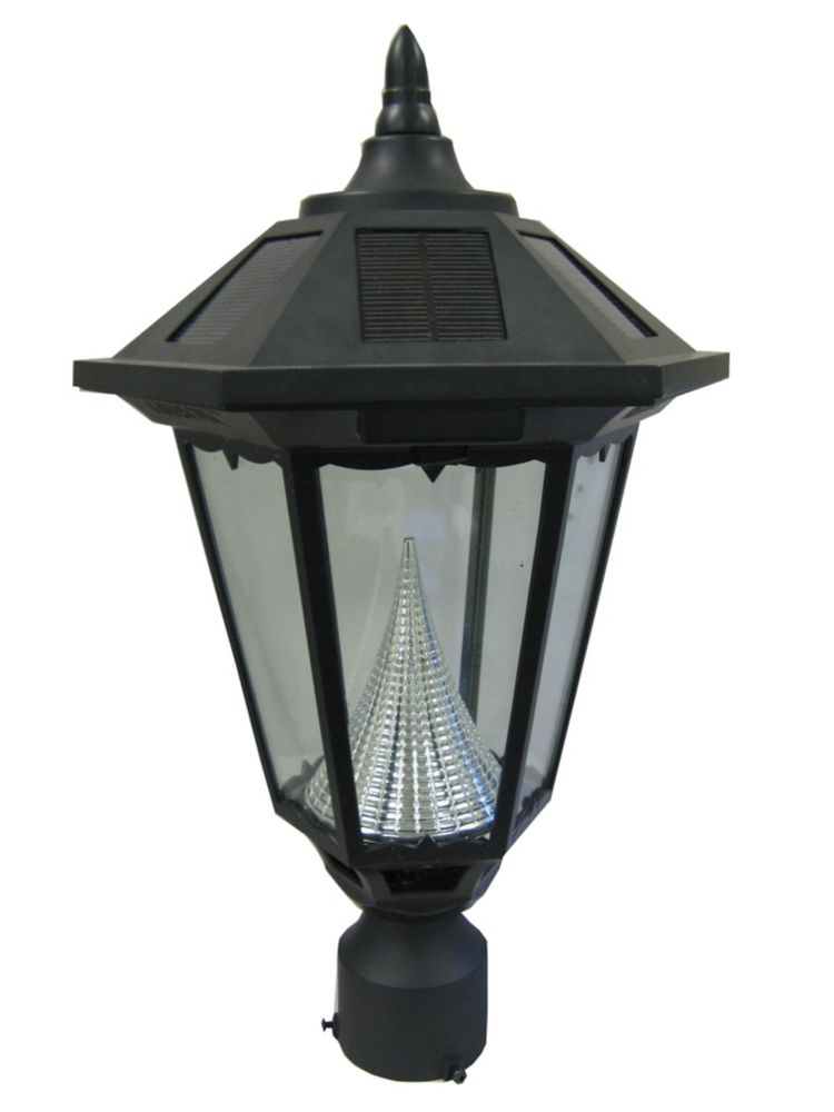 solar lamp 3 inch fitter mount black the home depot canada. Black Bedroom Furniture Sets. Home Design Ideas