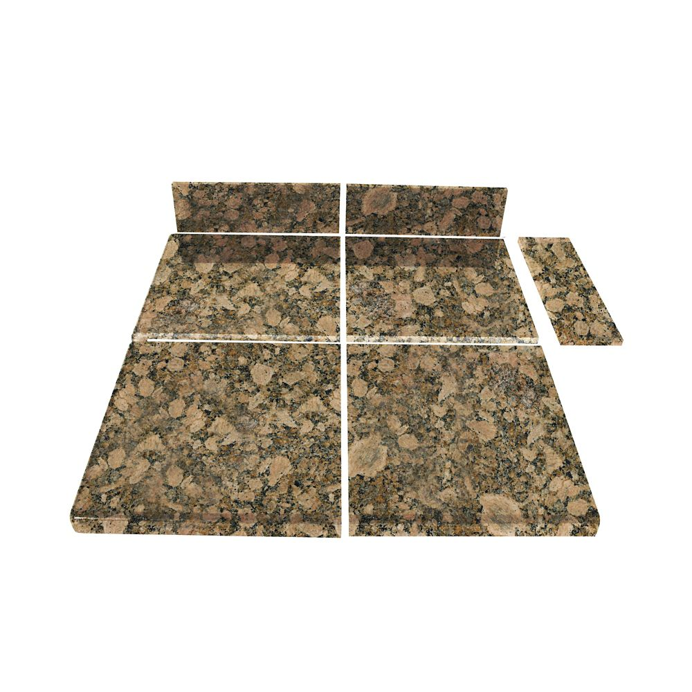 Giallo Fiorito Modular Kitchen Tile End Set