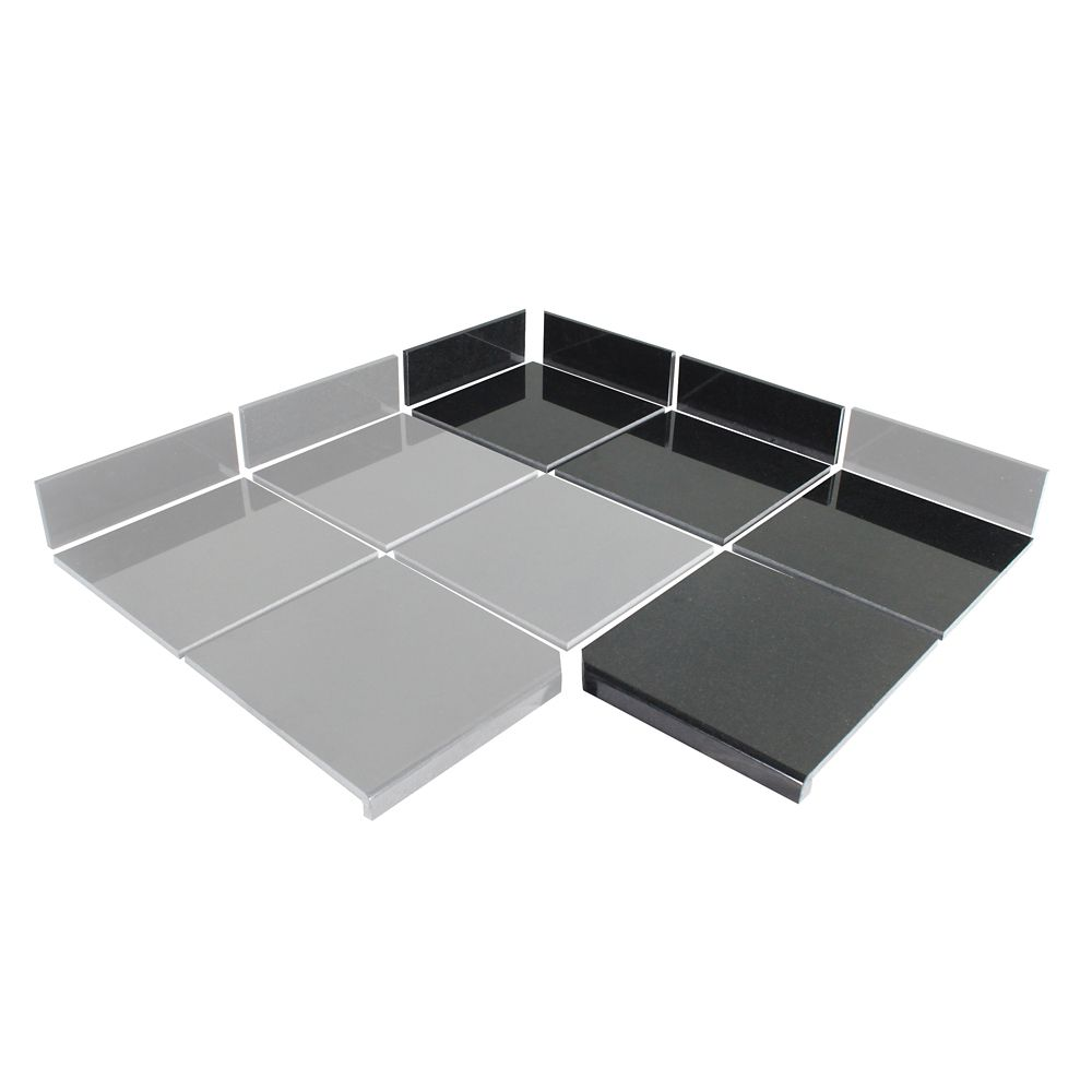 Midnight Black Modular Kitchen Tile 90 Degree Box B