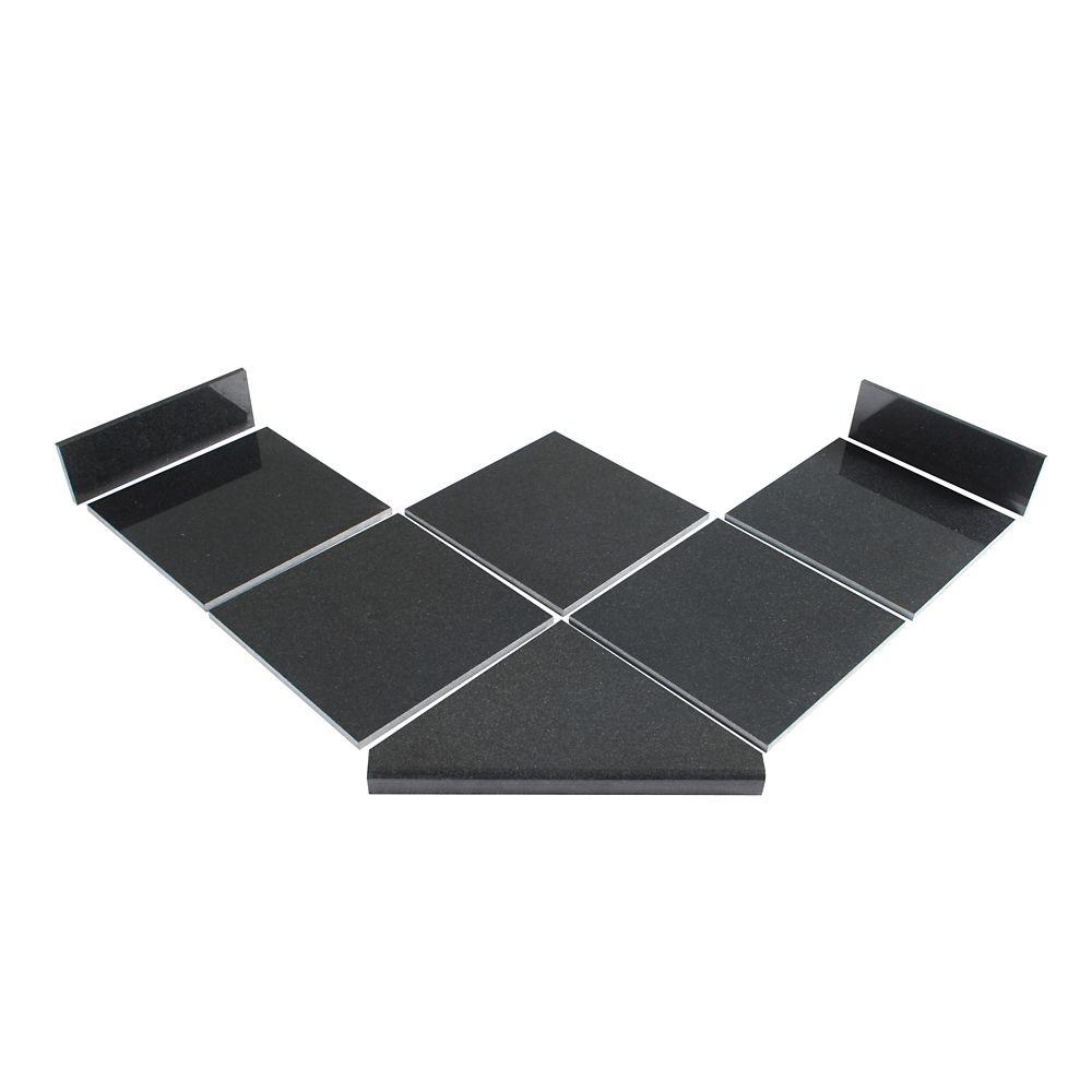 Kit de 45° de carreaux modulaires Noir Profond pour la cuisine