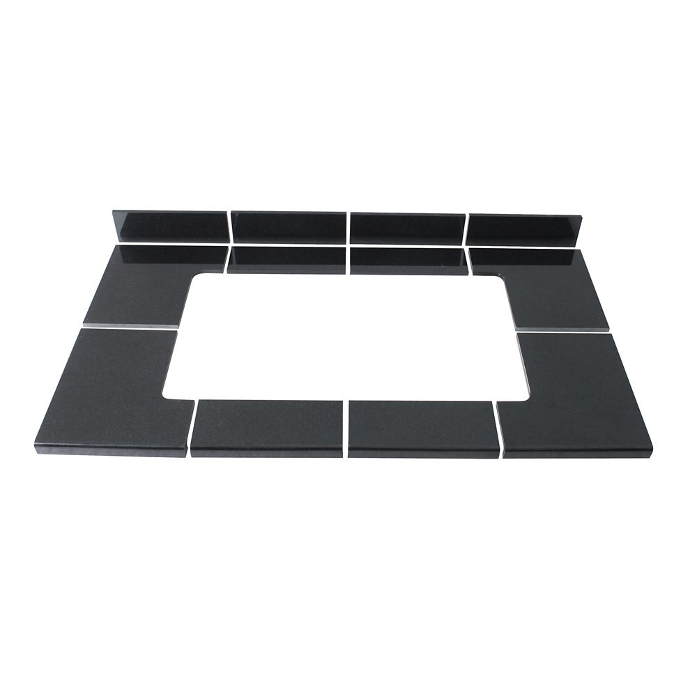 Kit de carreaux modulaires Noir Profond pour l'évier