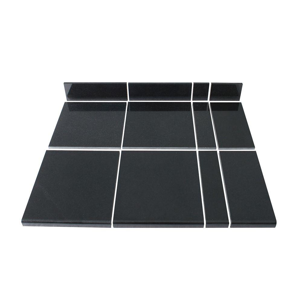 Midnight Black Modular Kitchen Tile Kit A
