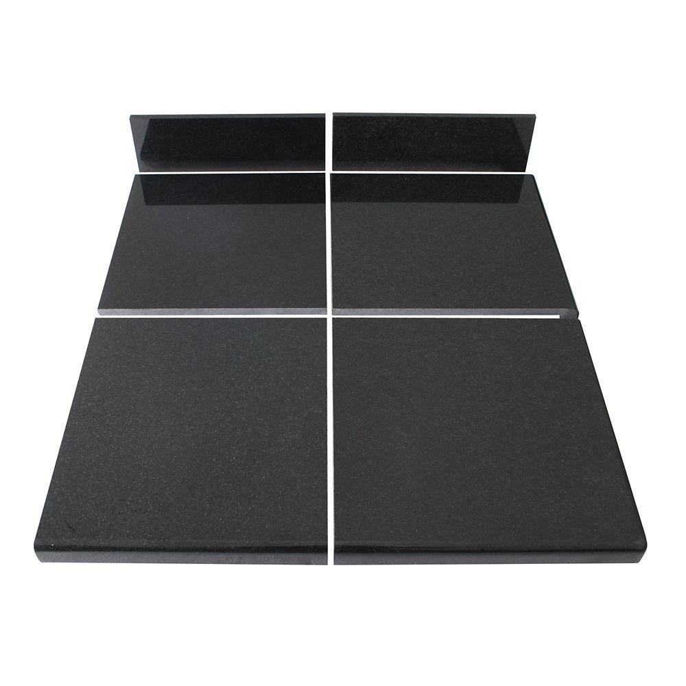Kit intermédiaire B de carreaux modulaires Noir Profond pour la cuisine