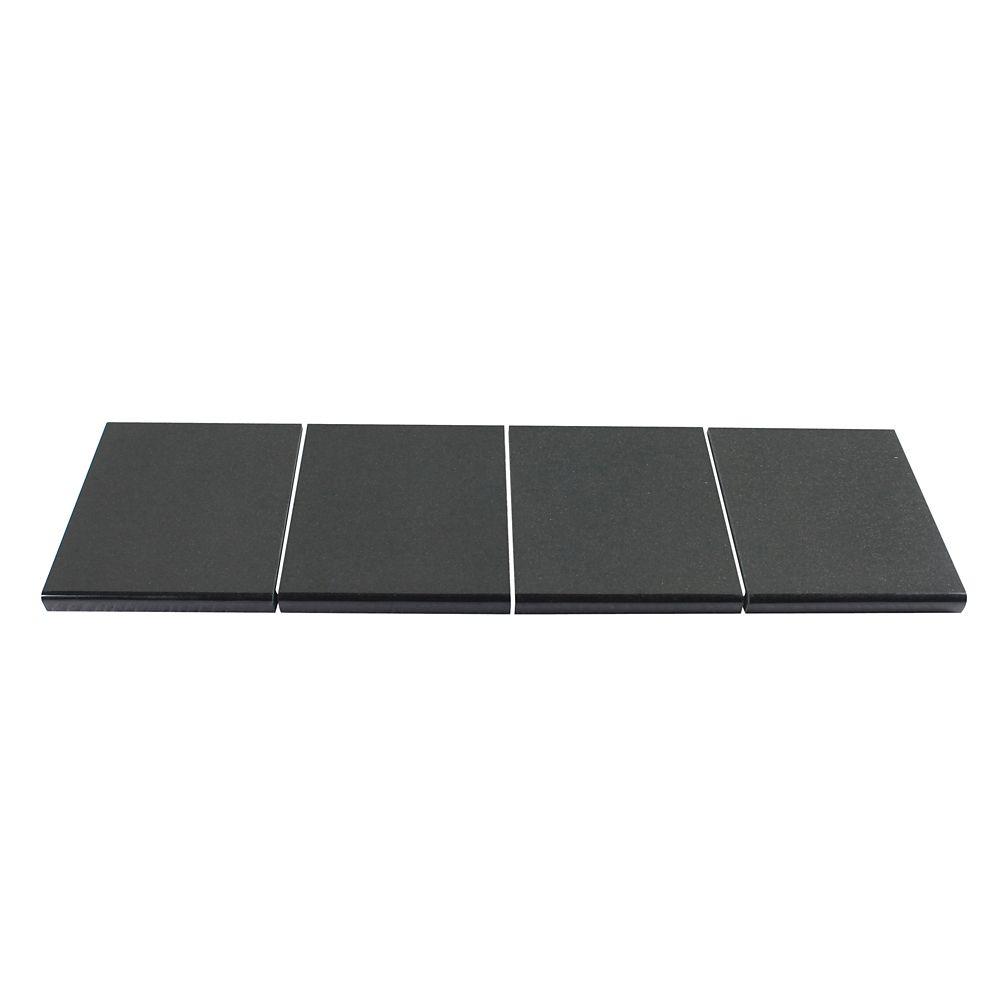 Midnight Black Modular Kitchen Tile Kit C